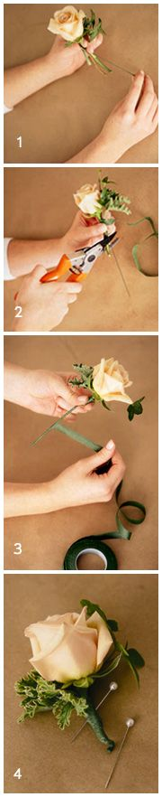 DIY Boutonnieres. Doing this.