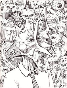 abstract doodle zentangle paisley coloring pages colouring adult detailed advanced printable kleuren voor volwassenen coloriage pour