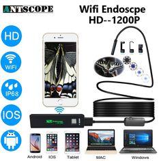 Antscope Iphone Endoscope HD Wifi Camera 8mm 1200P Borescope Waterproof Camera Endoscopio Hard Tube Wifi Endoscope Camera  #Affiliate