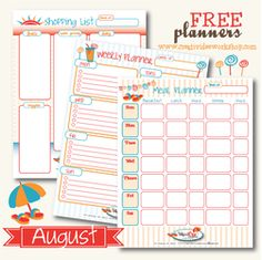Super cute FREE templates for meal planning! Share - The CreativiDee Workshop