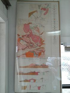 Vintage 1920's Geological Map, Topographic and Geologic Map and Sections of the New World Mining District, Montana - Wyoming circa 1929
