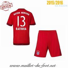 huge discount 1fa03 0f2e0 boutique de Maillot de foot Bayern Munich Rafinha 13 Enfant Domicile 2015  2016 pas cher