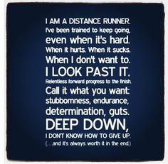 I am a distance runner