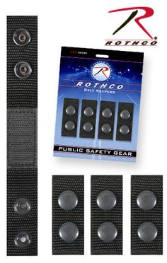 e44411d01695 New Black 1680 Denier Polyester Police Duty Rig Belt Keepers 4 Pack