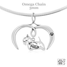 Dog Mom Charm NEW-FREE SHIPPING Beagle Mom Mini Sterling Silver Necklace