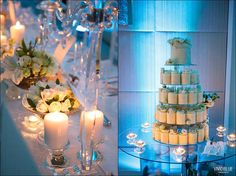 Crystal, glass & shades of whites & cream flowers by  99 Occasions @ The One & Only  Cape Town Weddings