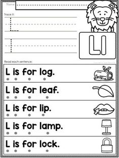 Alphabet Letter Fluency Sentences to Teach Beginning Sounds & Reading ELL Teaching Child To Read, Teaching Sight Words, Teaching Letters, Teaching Phonics, Teaching Reading, Kindergarten Reading Activities, Homeschool Kindergarten, Homeschooling, Reading Comprehension Worksheets