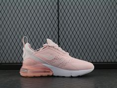 Nike Air Max 270 Flyknit Pink White Women Shoes Air Max Women, Air Max 270, Materialistic, Dream Shoes, White Women, Nike Shoes, Adidas Sneakers, Pink White, Nike Air Max