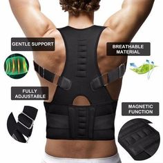 7a46cb937e4 Magnetic Posture Corrective Therapy Back Brace For Men   Women