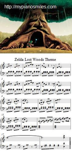 Zelda Lost Woods Theme Free Sheet Music