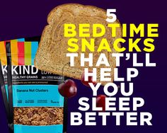5 Bedtime Snacks That'll Help You Sleep Better. The key point is to eat snack size portions, not our meal sizes. Get Healthy, Healthy Tips, Healthy Recipes, Healthy Beauty, Vegetarian Recipes, Healthy Bedtime Snacks, Healthy Snacks, Healthy Breakfasts, Eating Healthy