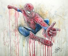 Hey, I found this really awesome Etsy listing at https://www.etsy.com/listing/235792910/spiderman-artwork-print