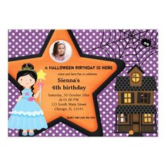 Green cute black cat kids halloween birthday card halloween halloween birthday costume purple cards bookmarktalkfo Images