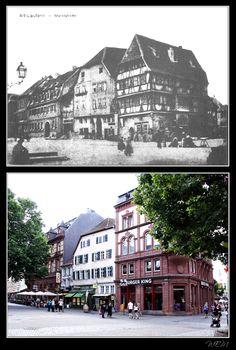 Kaiserslautern einst und heute - Alter Markt ca.1858