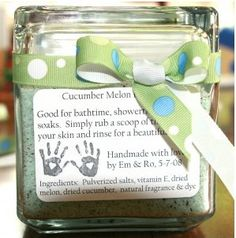 Homemade bath salts for Mother's Day.  Every Mother deserves a little pampering on their special day. ~ Happy Mother's Day!