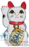 Lucky Cat Right Cross Stitch Pattern http://www.artecyshop.com/index.php?main_page=product_info&cPath=17&products_id=501