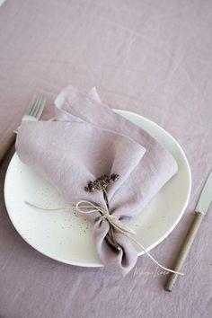 Woodrose (Dusty Pink) linen napkin set: 4, 6, 8, 10 napkins. Handmade, stone washed linen napkin set Wedding Plates, Wedding Napkins, Wedding Napkin Folding, Linen Napkins, Napkins Set, Dusty Pink, Pastel Pink, Lilac, Purple