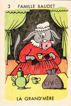 "VINTAGE PLAYING CARDS - ""Zoofamilles"" 5 de 6. Courtesie: Patricia M., pilllpat (agence eureka), (France)."
