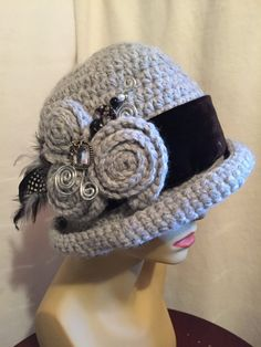 Downton Abbey Style Crocheted Hat...My Crocheted by paulinegould