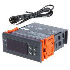 Digitaler Temperaturregler mini thermostat thermische regler Thermoelement-40 bis 120 Grad mit Alarmfunktion 10A 220 V
