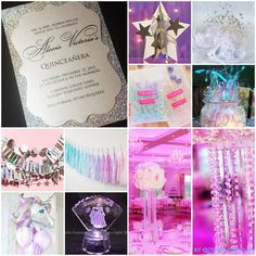 Shine & Sparkle | Holographic Crystal Sweet Fifteen Quinceanera Theme | Quince Candles