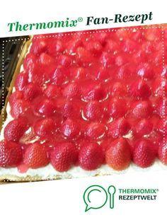Erdbeerkuchen mit Vanillecreme von elba71. Ein Thermomix ® Rezept aus der Kategorie Backen süß auf www.rezeptwelt.de, der Thermomix ® Community.
