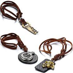 Aroncent 3PCS Herren Ketten mit Anhänger, Leder Halskette... https://www.amazon.de/dp/B01FNNRO3O/ref=cm_sw_r_pi_dp_GFLuxb5PEATT8