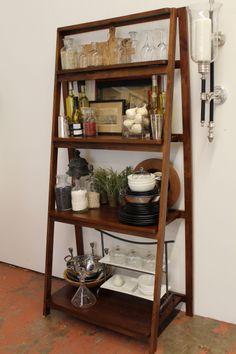Ladder Shelf in the Kitchen