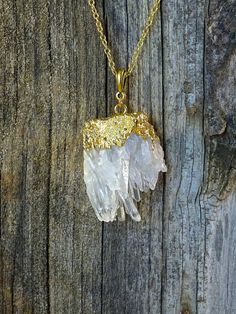 Clear Quartz Necklace by JewelryByKrystle on Etsy, $39.00