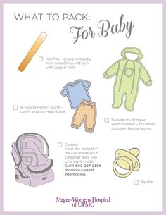 what to pack for baby