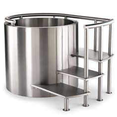 The Stainless Steel Ofuro.  Description  This soaking tub is patterned after Japanese ofuro in which a single person sits, relaxing in soothing hot water as part of a traditional, centuries-old daily bathing ritual designed to cleanse the body and calm the spirit.