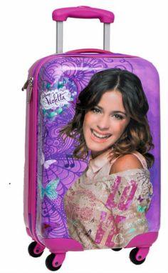 #Violetta Disney #Valigia Trolley 55 cm,Bagaglio a Mano, Viaggio, Zaini e Trolley - TocTocShop.com -