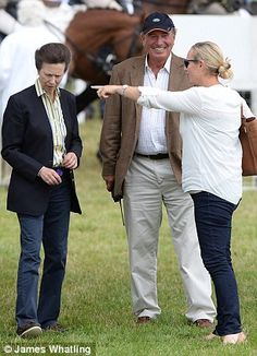 Princess Anne, her former husband Mark Phillips and their daughter Zara Phillips