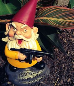 Scarface Lawn Gnome $15.55