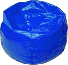 "BeanBag - WetLook Vinyl Blue, Style 105-Easy care wipe-clean vinyl beanbag in traditional round style. Adjustable. Kid safe zipper closure. Double stitched.-Filled with super-lite expanded polystyrene beads for easy movement & portability.-Style: Round-Diameter: 33""-60 Days Ltd."