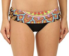 cbadf48832dc9 Amazon.com  Trina Turk Women s Moroccan Medallion Sash Hipster Bikini Bottom