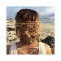 Wedding hair for the boho bride by Kayla Marshall Wedding Hair Fishtail braid bu