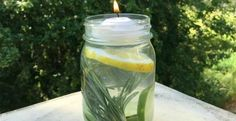 Nothing ruins a summer BBQ or picnic like an invasion of mosquitos. For an all-natural way to get mosquitos off the guest list at your next outdoor gathering try this simple Mosquito Repellant Mason Jar. Repelir Mosquitos, Lemon Eucalyptus Oil, Keep Bugs Away, Natural Mosquito Repellant, Insect Repellent, Good To Know, Natural Remedies, Mason Jars, Pot Mason
