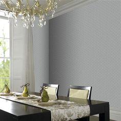 laurence llewelyn bowen wallpaper | Laurence Llewelyn-Bowen Gloriental Wallpaper, Grey & Silver | ACHICA