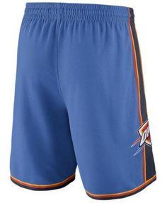 Nike Men's Oklahoma City Thunder Icon Swingman Shorts - Blue XXL