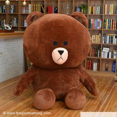 Mua Gấu bông Brown to giá rẻ. Với nhiều kích thước lớn 1m, 1m2, 1m4, 1m5 được làm từ vải cotton nhung 2 chiều mềm và êm ái với 100% bông gòn bi trắng. Giao hàng toàn quốc.