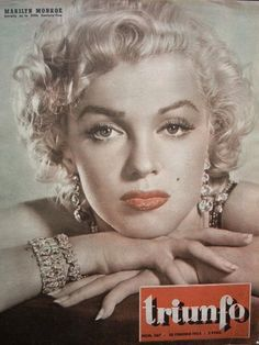 Triunfo - 1953, magazine from Italy. Front cover photo of Marilyn Monroe by Frank Powolny (or possibly Art Weisman), 1952.