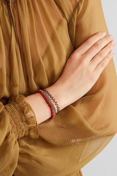 Isabel Marant - Set Of Two Gold-tone Beaded Bracelets - Red - one size