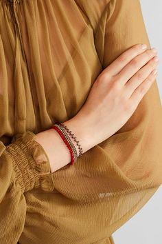 Isabel Marant - Set Of Two Gold-tone Beaded Bracelets - Red - one size