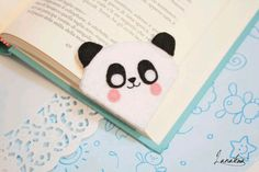 Items similar to Panda bookmark, panda gifts animal bookmark, literary gift for her, handmade felt bookmark book lover gift best friend gift kid party favors on Etsy Felt Bookmark, Origami Bookmark, Corner Bookmarks, How To Make Bookmarks, Diy Origami, Felt Crafts, Diy And Crafts, Panda Day, Painted Rock Cactus