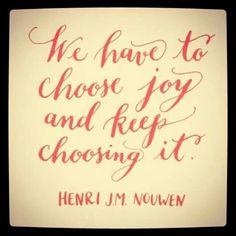 Joy above everything...