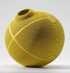 Gregory Roberts - Lovegrass III, 2005. Sculpted honeycomb ceramics, dye, glaze, multiple firings.