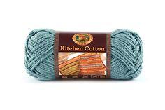Lion Brand Yarn 831-108 Kitchen Cotton Yarn, Blue Ice...If I feel up to making dish cloths.