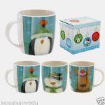 Jan Pashley Licensed Christmas Blue Bone China Mug