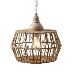 Inspired by the intricate texture of crab traps and fishing nets, this lamp will instantly cast you away to the sea. Crafted out of jute-wrapped iron, the lamp brings beach style to your decor. And at night, you'll feel cozy with this shedding a warm glow over your home, no matter what storms are outside.